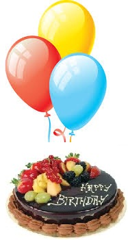 3 Air Balloons 1/2 Kg Chocolate Fruit cake