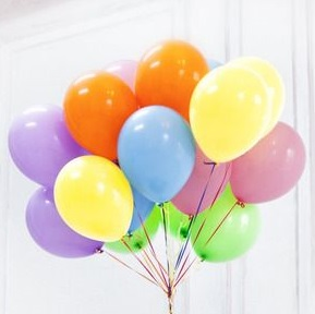 20 Helium Gas Filled Balloons