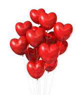 12 Red Heart Balloons