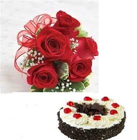 2 Kg Black Forest Cake 4 Roses
