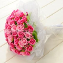 70 Pink Roses bouquet