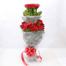 Two Tier 50 red Roses bouquet