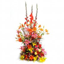 Large basket of Lilies Carnations Roses Colour choice of florist