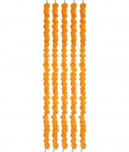5 Strands of Marigold garlands 3 foot each