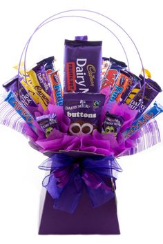 40 cadbury chocolates arranged in a bouquet