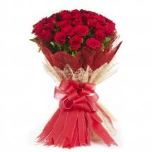 70 Red Roses bouquet