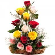 Two Dozen Mix roses Arrangement