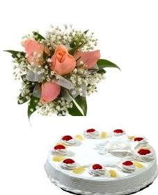 2 Kg Pineapple Cake 4 Roses