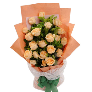 40 peach Roses bouquet