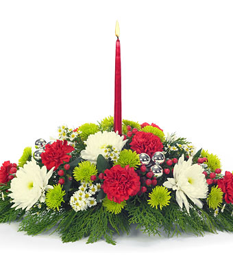 12 red roses 12 canations with red candle in basket