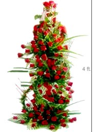 Four Foot Tall Arrangement of 300 Roses
