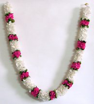 Garland of pink and white roses
