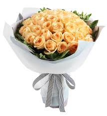 60 peach Roses bouquet