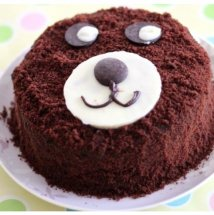 1/2 Kg Teddy bear face Chocolate Cake