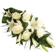White Lilies and white roses bouquet